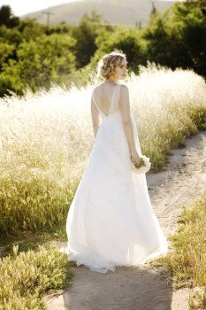 Chiffon Sleeveless V-neck Empire Bodice Maternity Wedding Dresses