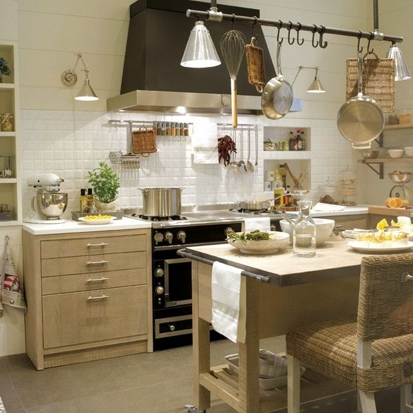 25 best ideas about cocinas rusticas de obra on pinterest for Cocinas modernas blancas