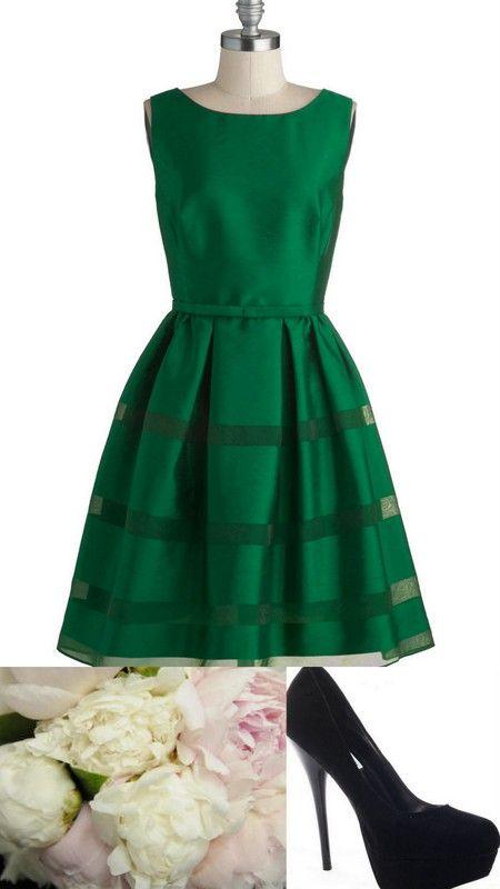 Style Inspiration and Design Emerald Green Bridesmaid Dress Inspiration