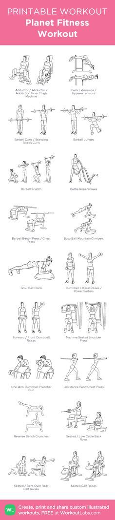 Planet Fitness Workout –illustrated exercise plan created at…