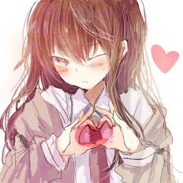 Картинки аниме с надписями я тебя люблю, изображением цветов