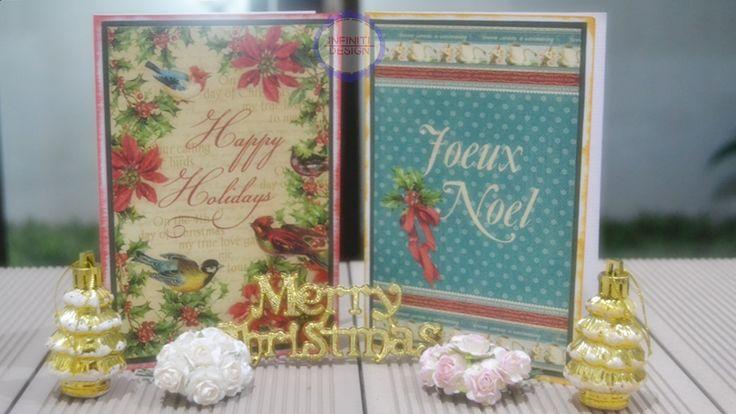 "simple christmas card using G45 paper pad ""Twelve Days of Christmas"""