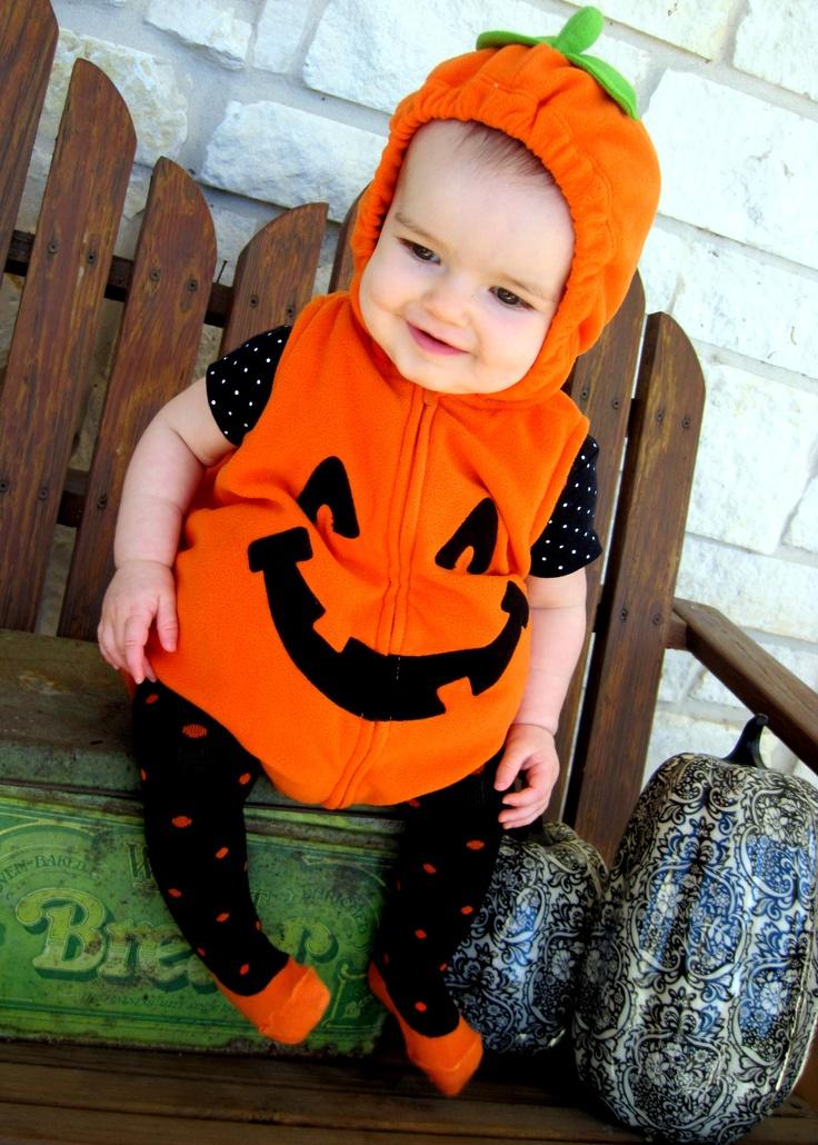 Halloween PUMPKIN costume BABY girl 6 month photo pumpkin patch