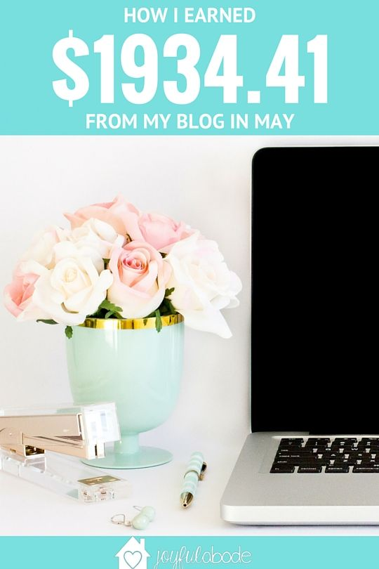 May 2016 Blog Income Report – $1934.41