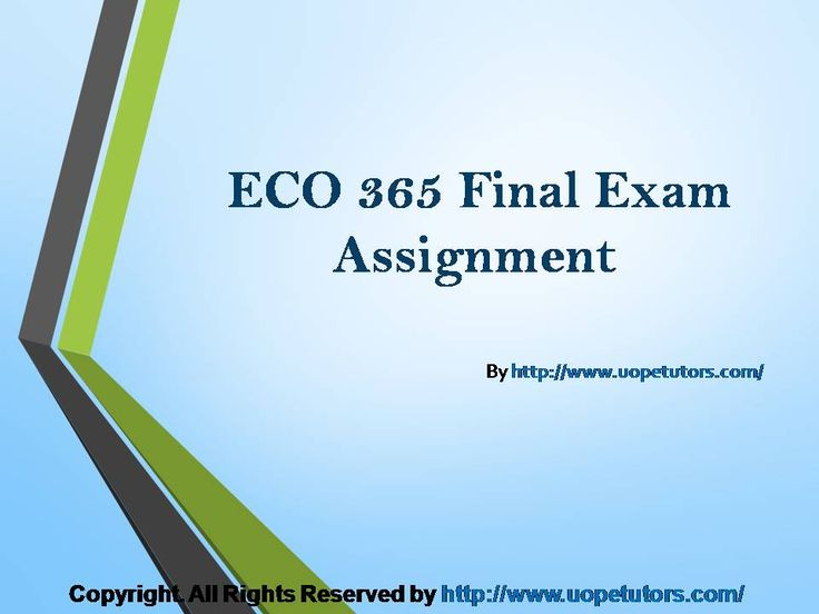 Get connected to the largest online portal to get help with all sorts of queries and questions related to Finance, Economics and Accounting Homework, university of phoenix discussion questions, etc. The best tutorials are the easiest way to score excellent grades in exams. http://www.UOPeTutors.com/ specialize in providing UOP ECO 365 final exam Latest Assignment
