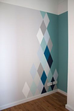 creative casa wall paint idea to add more color and visual stimulation - Paint Design Ideas
