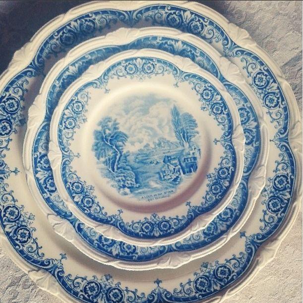 Art for art's sake! art dishware Grindley England bonechina finest handmade handprinted Antique brocante tradition 1800 Pottery pot scenes After Coleridge