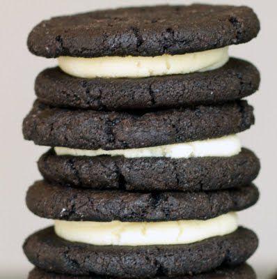 lots of recipe: Sugar Cooking, Food, Recipes, Sweet Tooth, Oreo Recipe, Homemade Oreos, Oreo Cookie Recipe, Homemadeoreos, Dessert