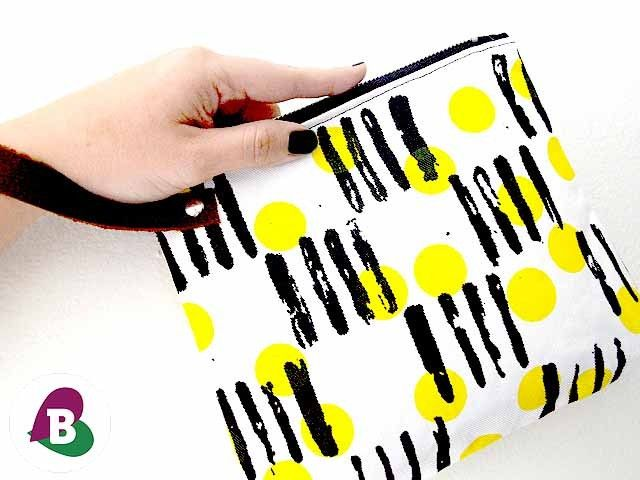 White Friday Wristlet Clutch - Screen Printed & Handmade - Pouches - Because I Like It