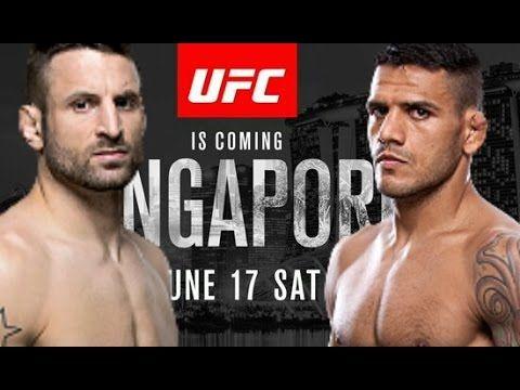 MMA UFC Singapore: Rafael Dos Anjos vs Tarec Saffiedine