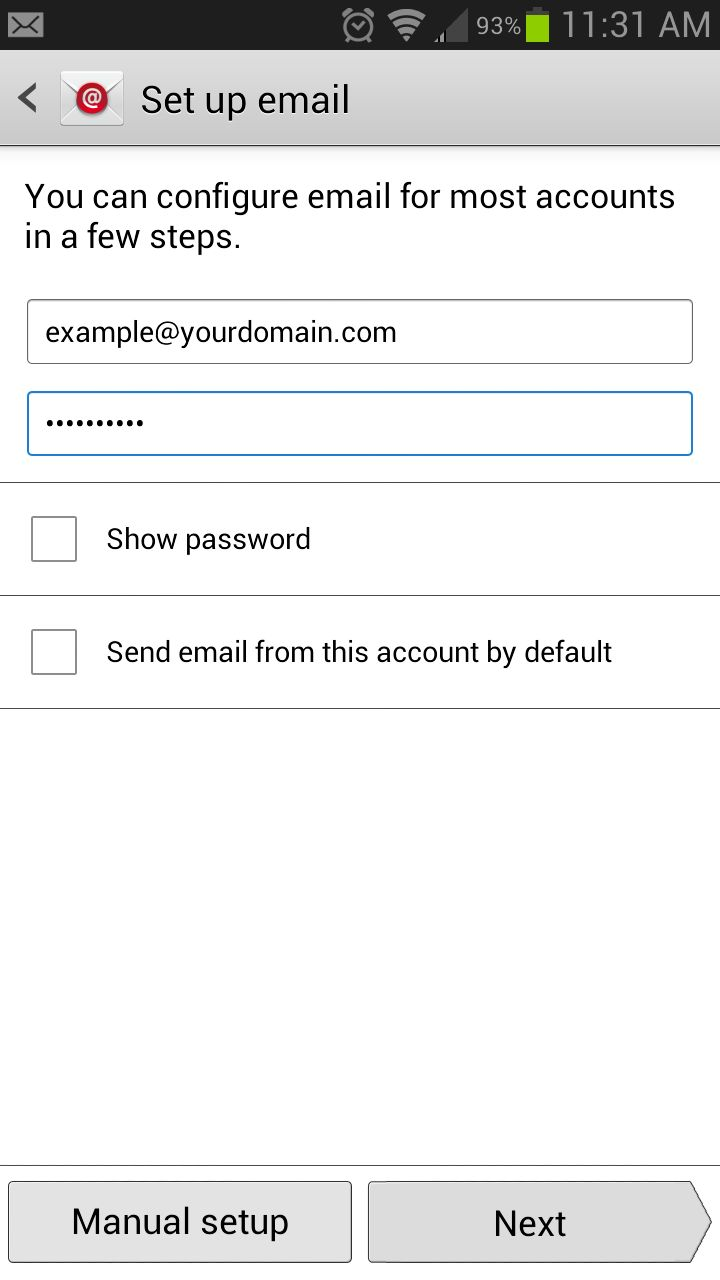 Setting Up Email On Android