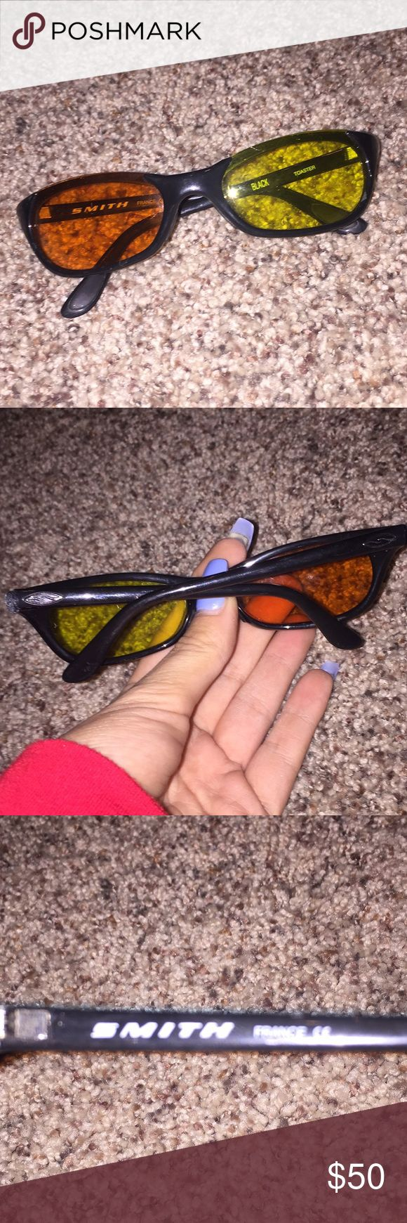Smith glasses Authentic . These are the lenses they had in at the store one yellow one orange . You can leave them s is or change them . Good condition SMITH Accessories Sunglasses