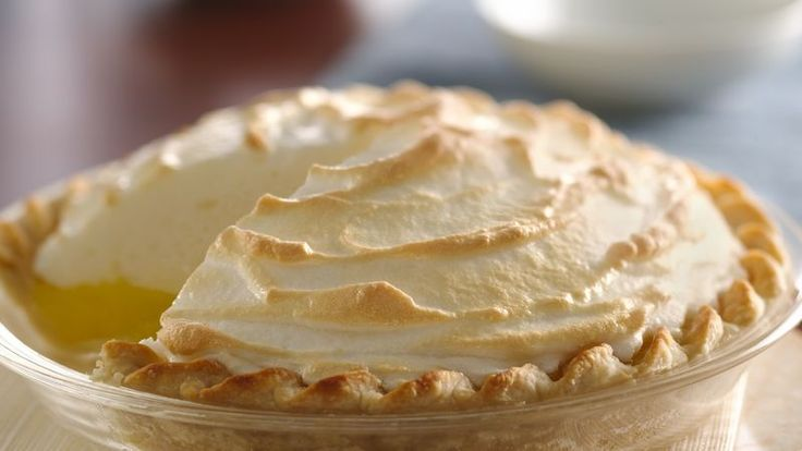 Taste a classic recipe!  This pie is bursting with fresh lemon taste and a sweet, creamy real meringue topping.