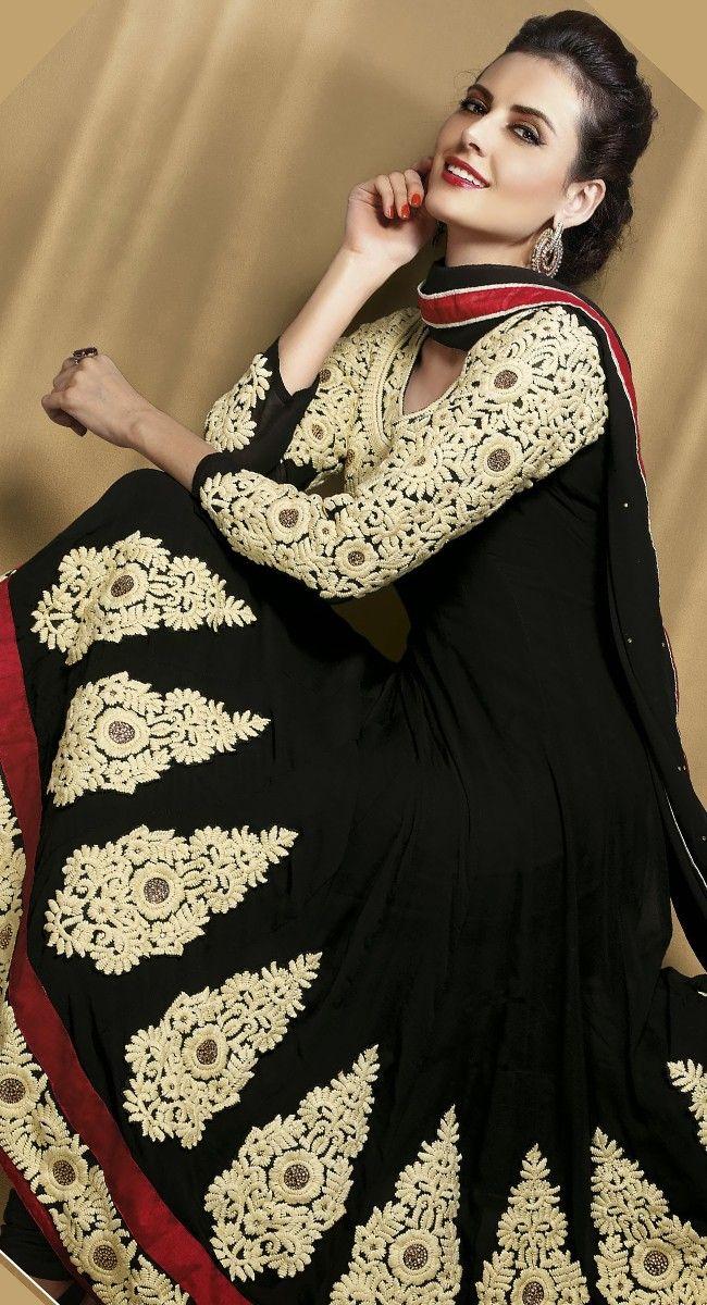 Charming Black Salwar Kameez