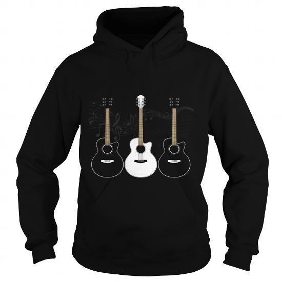 Shirt Black and White Acoustic Guitars - Hot Trend T-shirts