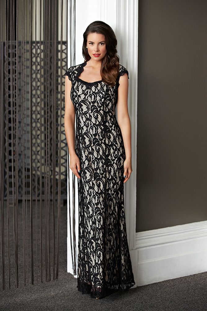 Lace Dress   Gown   Black   Mr K 2014 Collection. #fashion #lace #black   http://www.facebook.com/ASPIRATIONS