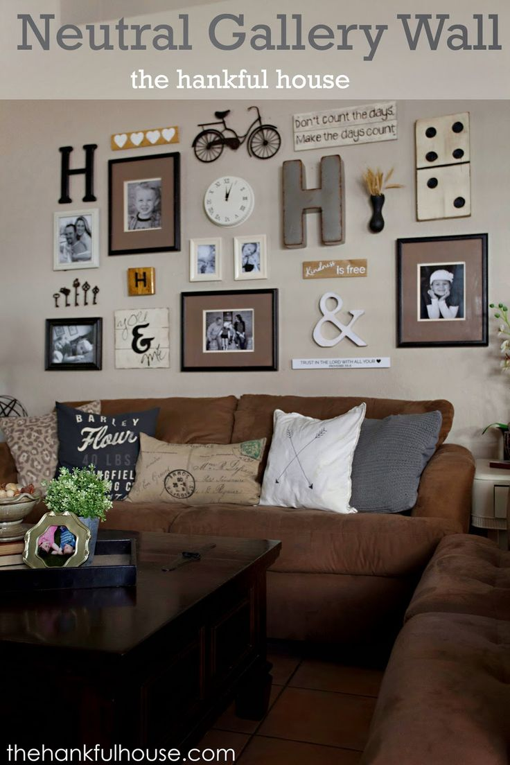 The hankful house neutral gallery wall galleryyyyy for Living room gallery wall