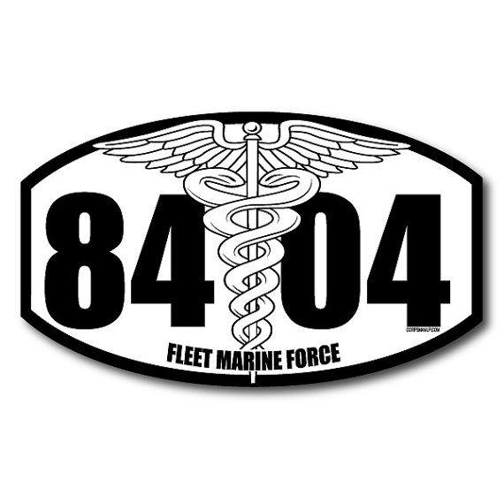 8404 Fleet Marine Force military sticker
