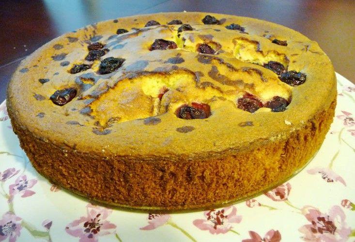 Пирог вишня с оливковым маслом