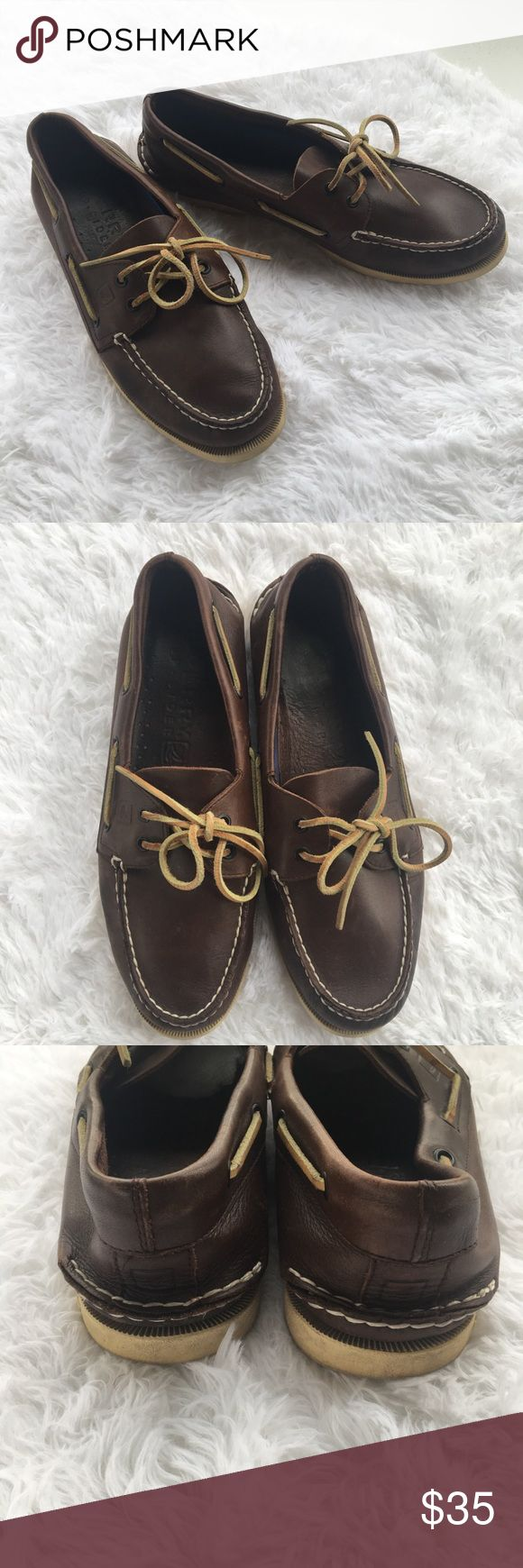 Men's Sperry Top Sider Boat Shoe Loafer Brown 11 Men's Sperry Top Sider Boat Shoe, size 11, chocolate brown. Excellent preowned condition. No box. Sperry Shoes Loafers & Slip-Ons