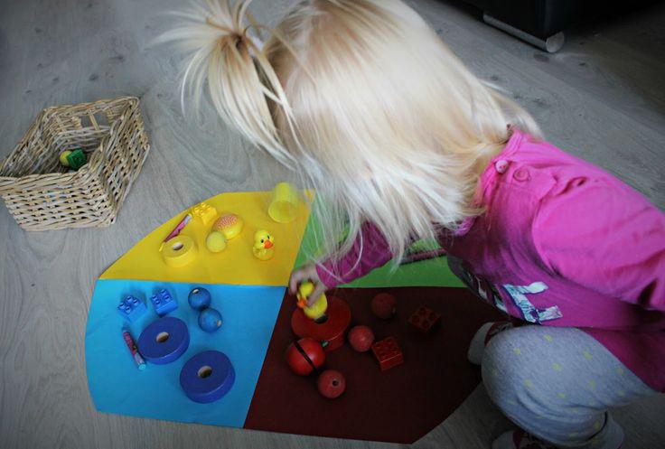 Farbkreis wie bei der Montessori. DIY