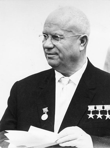 Nikita Sergeyevich Khrushchev was a politician who led the Soviet Union during part of the Cold War.