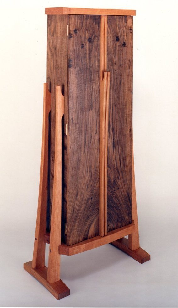 Hand Crafted Cd Storage Cabinet By Mike Bartell Woodcraftsman