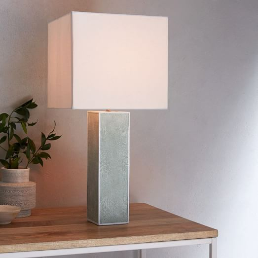 Faux Shagreen Table Lamp - Tall | west elm