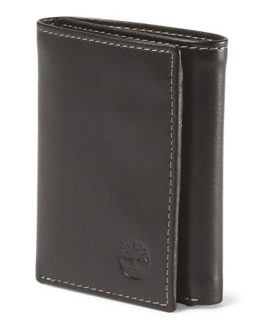 Leather Trifold Wallet - TIMBERLAND black