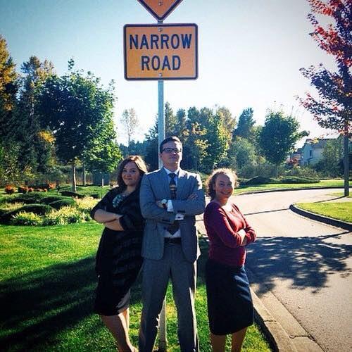 "Washington State sign. Mathew 7:13/14 talks about the ""Narrow road""..."