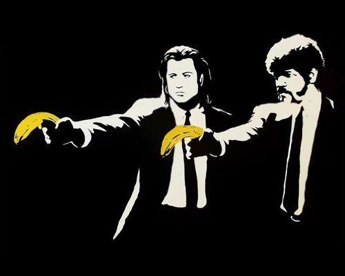 Pulp Fiction, Banksy #AmazonArt #streetart