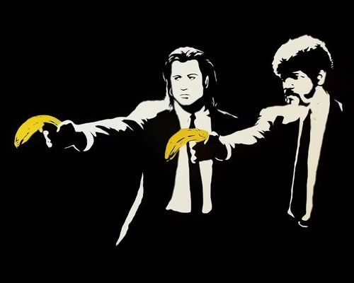 Pulp Fiction, Banksy #AmazonArt #streetart
