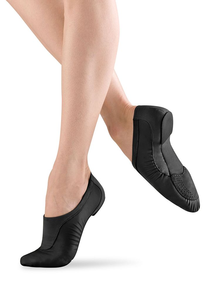Sleek jazz shoes that hug the arch to accentuate a pretty point, like this pair by Bloch Dance USA, are a must have for competition dancers. #FashionFriday