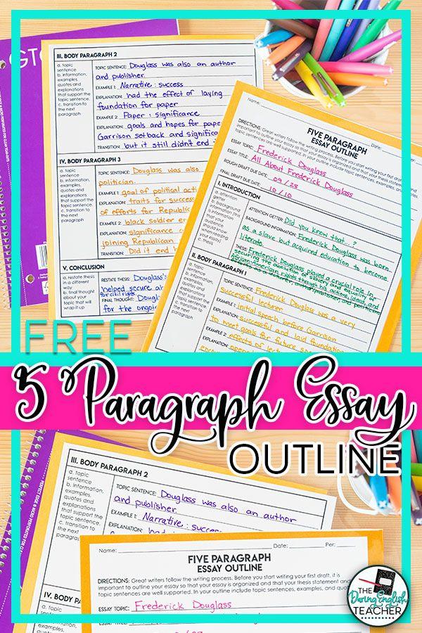 Free Five Paragraph Essay Outline Essay Outline Essay Outline Template Essay Writing Help