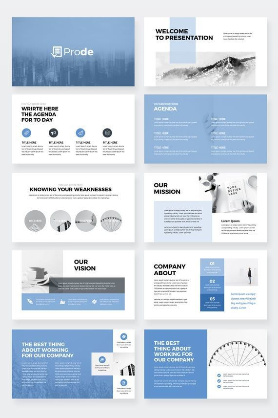Prode Business Powerpoint Presentation Template Etsy In 2020 Powerpoint Presentation Design Presentation Design Layout Presentation Design