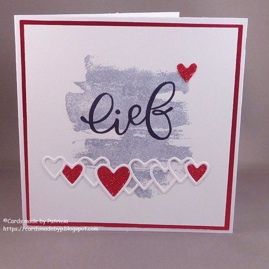 Handmade card by Patricia with Creatables Lots of Love (LR0450) from Marianne Design