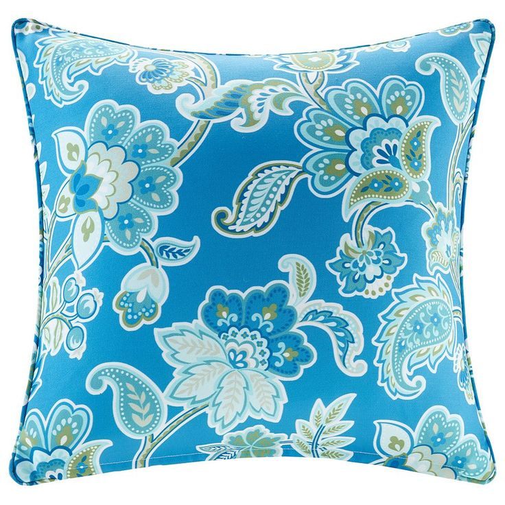 Madison Park 3M Scotchgard Outdoor Medium Throw Pillow, Blue