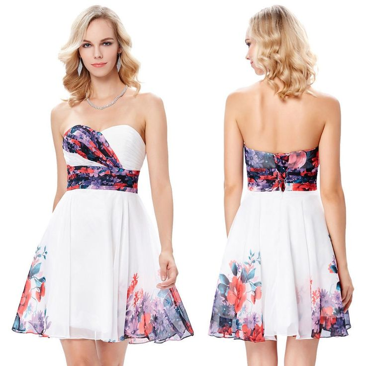Flowered cocktail dress