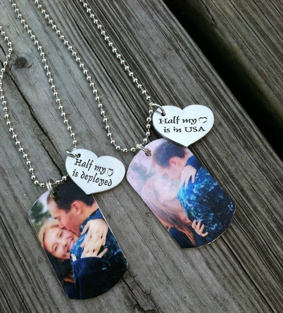 Personalized Couples Dog Tags Pair of Two by GreenStarAccessories
