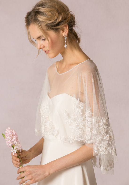 Sweetheart cut dress with lace overlay | Jenny Yoo Colletion: | Ophelia Capelet | http://knot.ly/6495Bt5XT