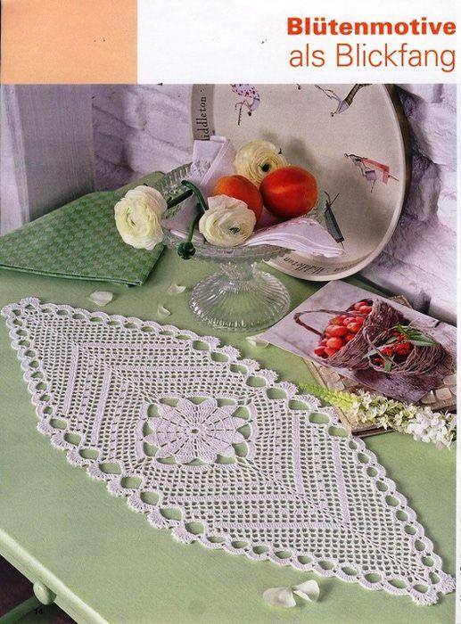 Tischdecke häkeln . crochet tablecloth