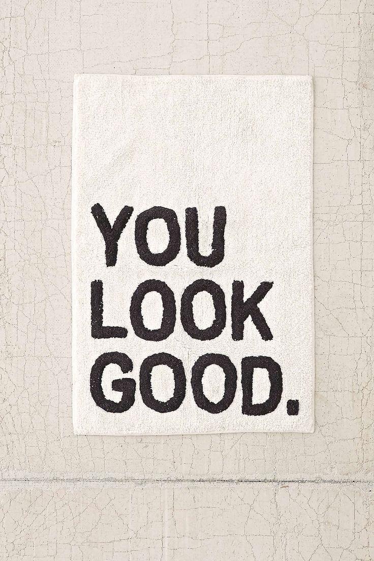 Best choices bathroom rug runner bathroom designs - Plum Bow You Look Good Bath Mat Positive Affirmations That Everyone Needs Can