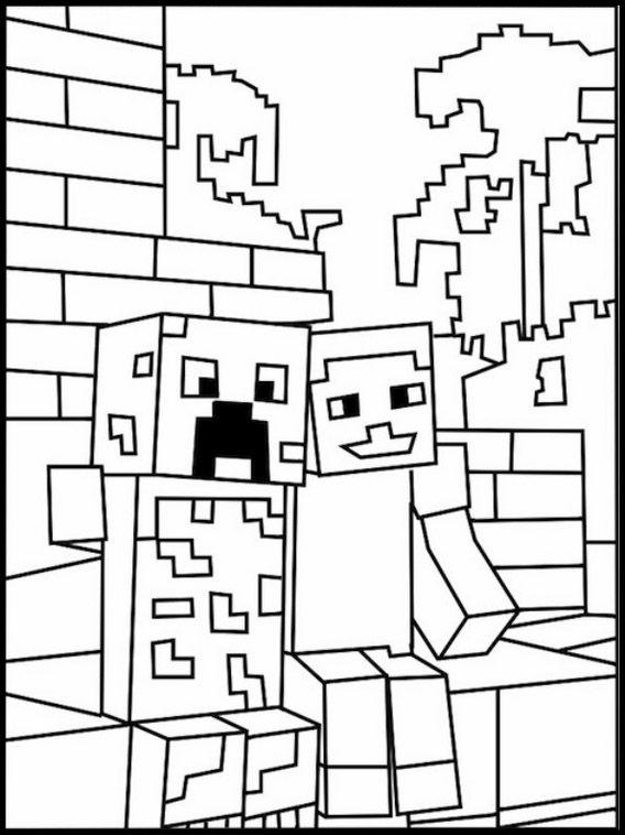Disegni Di Minecraft Da Colorare Pagine Da Colorare Stampabili