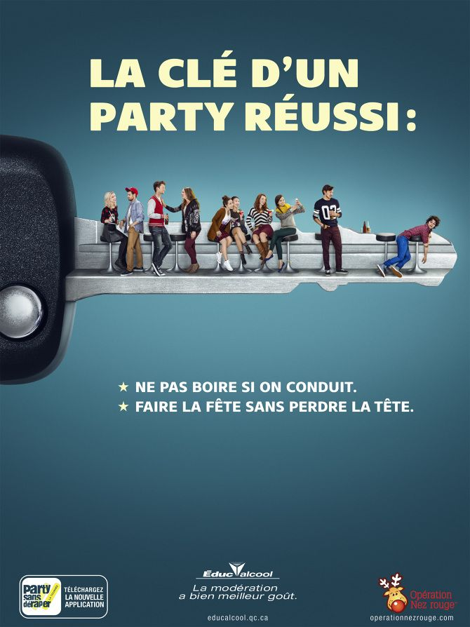 Connu sécurité routière (alcool au volant, Québec, Éduc'alcool  NJ59