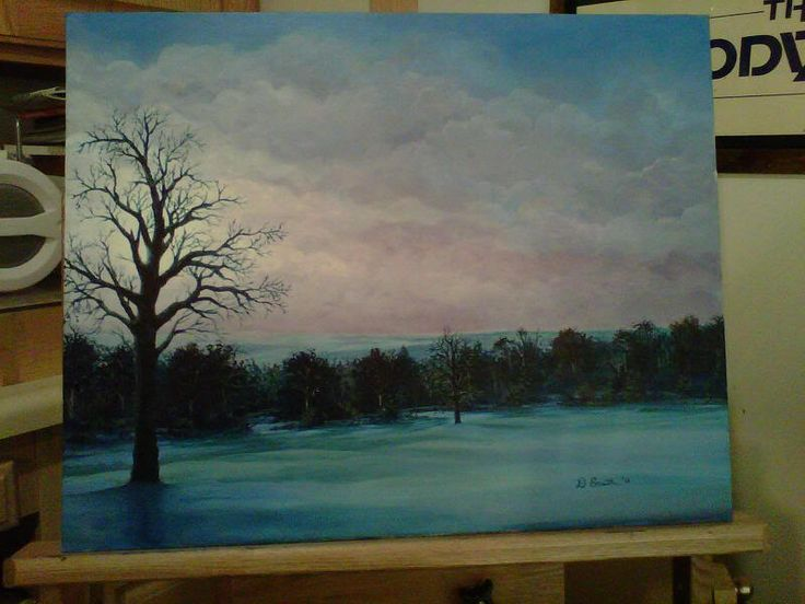 Acryllic painting for my brother. Inspired by the first snowfall of December 2010 from the back porch of the Red Maple Inn near Middlefield, OH. Took the original with my Blackberry. I was there for work at our KraftMaid plants.