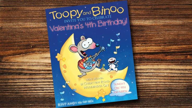 Toopy Binoo Birthday Invite. $9.00, via Etsy.