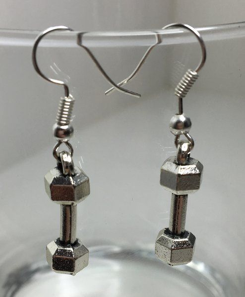 6.99$ Dumbbell Earrings | Motivational Fitness Jewelry - Miss Fit Boutique