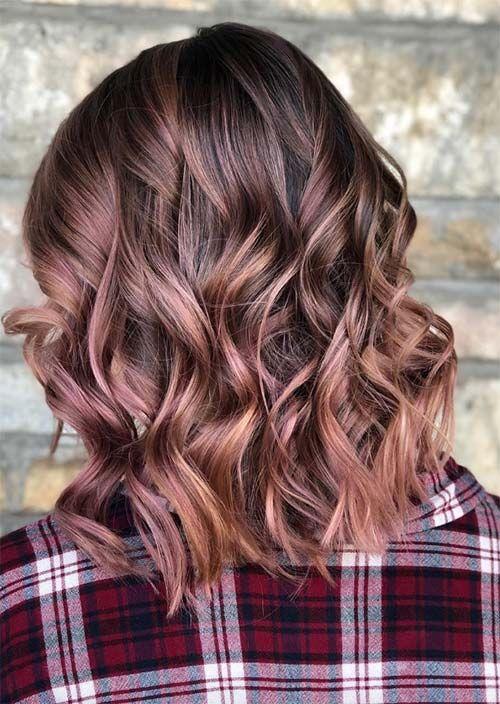 Rosenbrauner Haartrend: 23 magische Rosenbraun-Haarfarben zum Ausprobieren – Frisur
