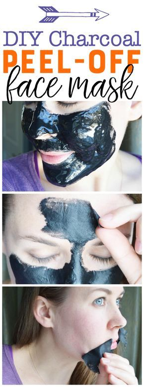 DIY Charcoal Peel-Off Mask | Blackhead Peel Off Mask | Homemade Charcoal Mask | Exfoliating Facial DIY | Peel Off Face Mask | Acne Mask