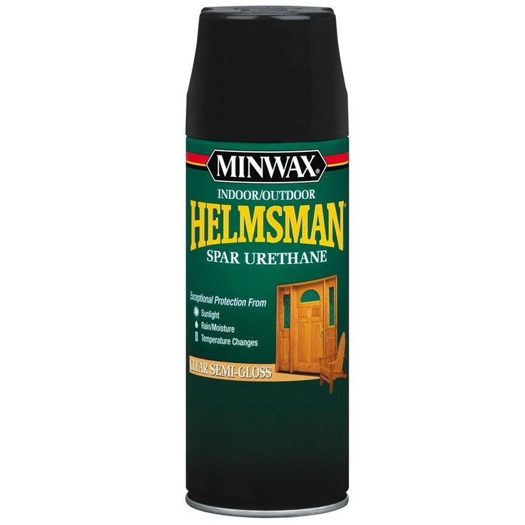 Great Clear Semi Gloss Helmsman Indoor Outdoor Spar Urethane Aerosol Spray Pack